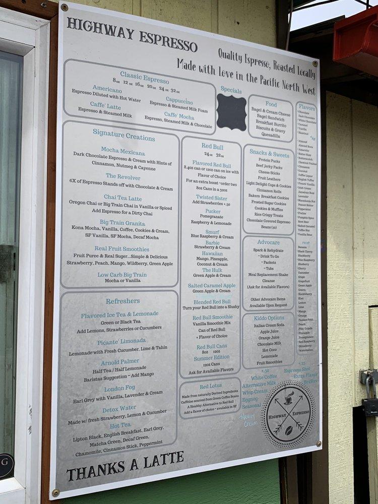 Highway Espresso: 10118 US-12, Naches, WA