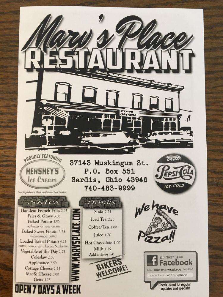 Marv's Place: 37143 Muskingum St, Sardis, OH