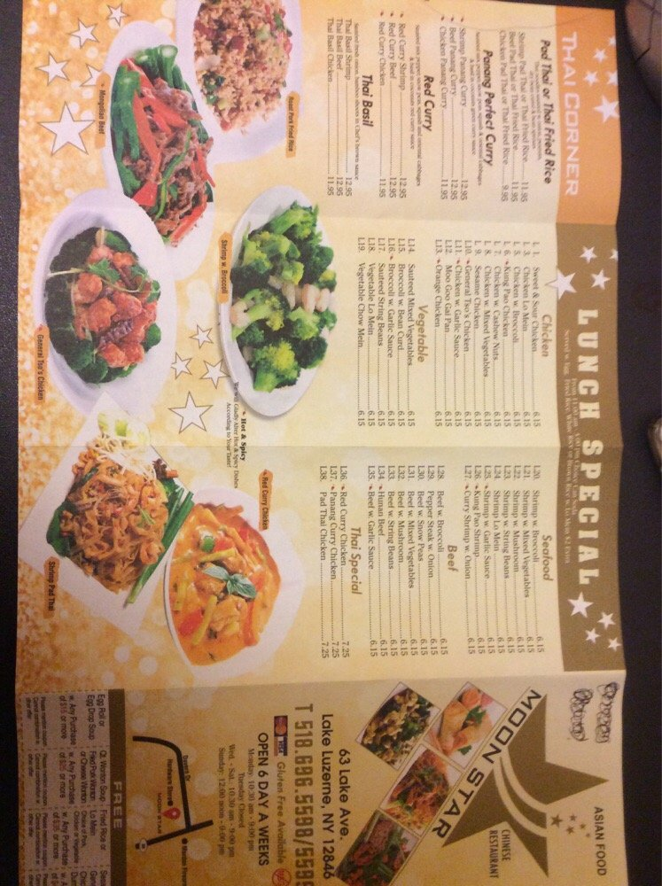 Mjn China: Moon Star Chinese ,Thai Food Is On Business