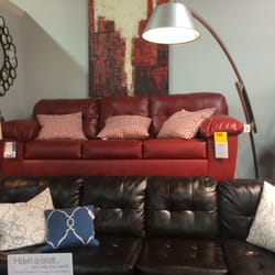 Photo Of Ashley HomeStore   Indianapolis, IN, United States. Red Sofa. Now