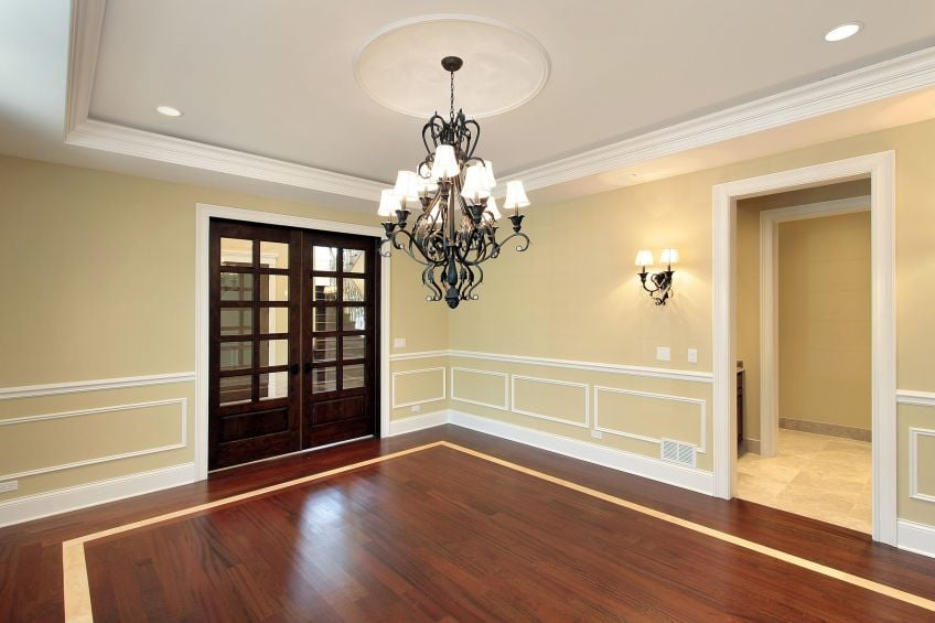 Dining Room With Intricate Wainscoting Trim Yelp