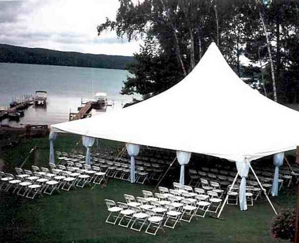 Tent and Party Rental  Pontiac, MI, United States. 40x40 High Peak