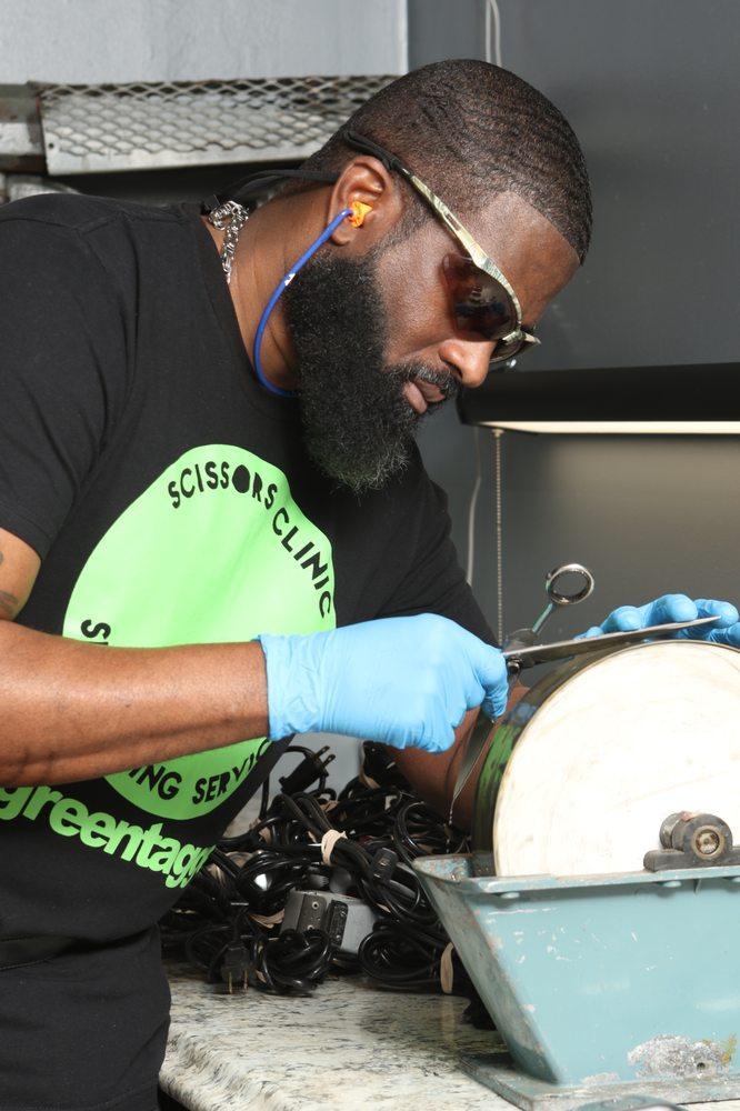 Scissors Clinic Sharpening Service and Salon: 1022 N La Brea Ave, Inglewood, CA