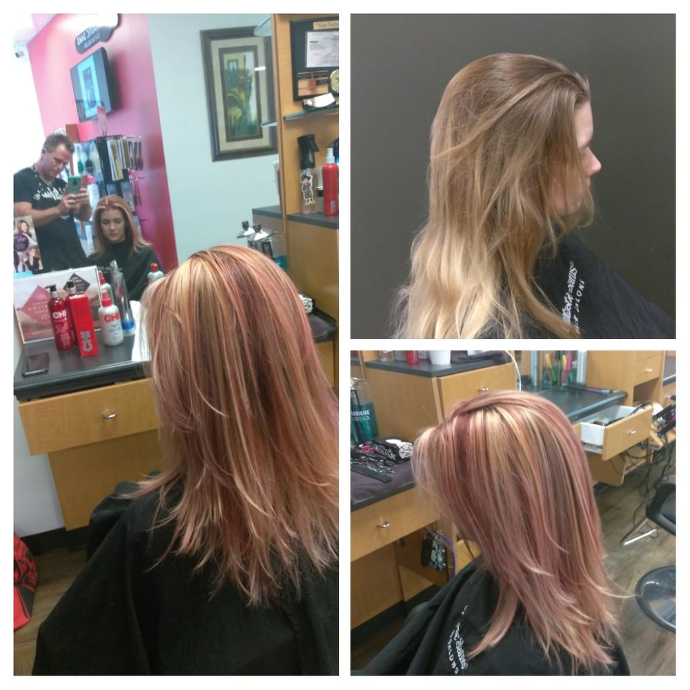 Went From A Grown Out Blonde To Red Violet And Highlight By Dana