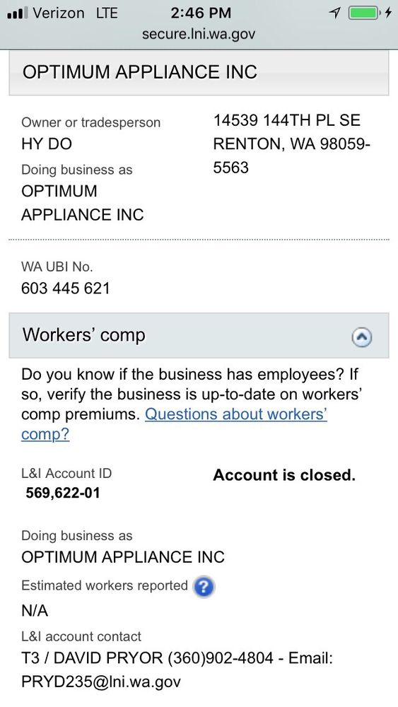 Optimum Appliance, Inc.