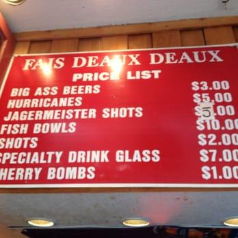 Fais deaux deaux 36 photos 20 reviews bars 327 for Bourbon street fish
