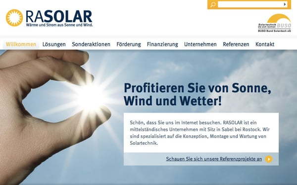 Rasolar Wärme und Strom aus Sonne und Wind - Heating & Air ...