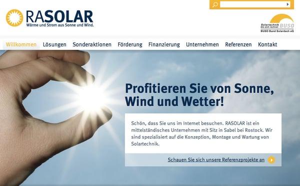 Rasolar Wärme und Strom aus Sonne und Wind - Heating & Air ...