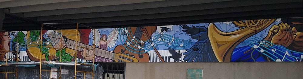Crossroads Plaza mural: 662 Ohio St, Terre Haute, IN