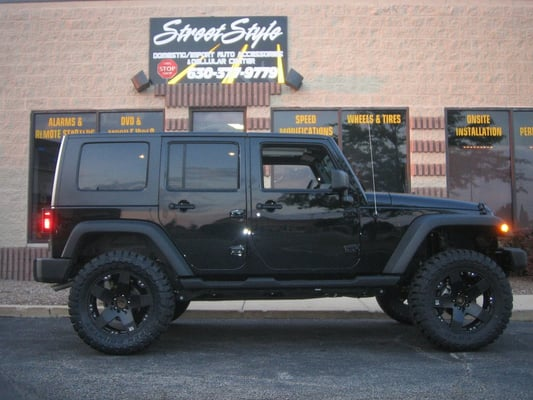 jeep wrangler lift kit and wheel package autos post. Black Bedroom Furniture Sets. Home Design Ideas