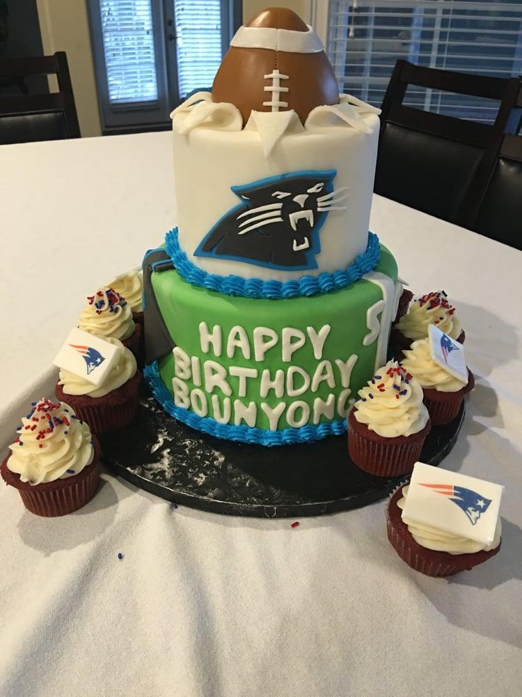 Carolina Panthers cake and New England cupcakes! - Yelp
