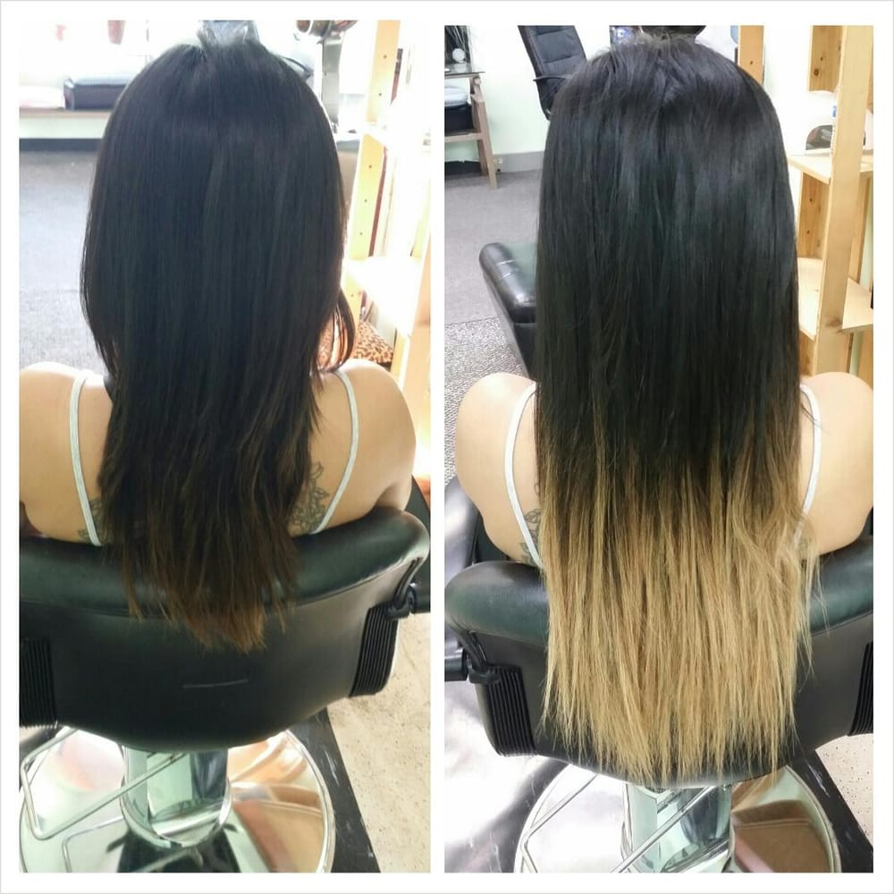 Before And After Shot From Last Night Extensions Service