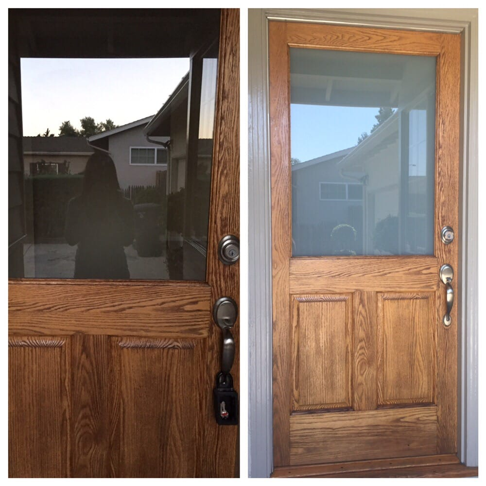 Replaced The Clear Glass With White Laminated Glass For Better