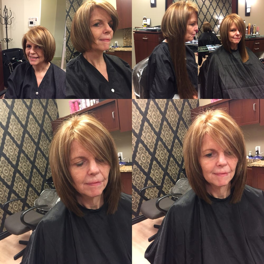 Short bob to long inverted bob with magic of tape in hair photo of inessa hair design palm harbor fl united states short bob pmusecretfo Image collections