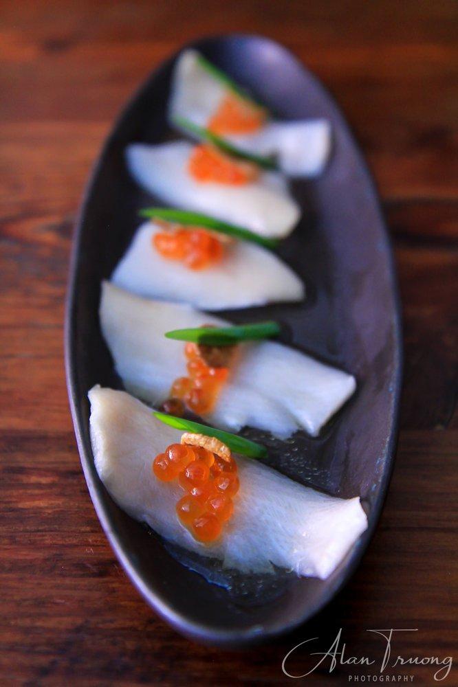Hamachi Crudo With Salmon Eggs Yelp