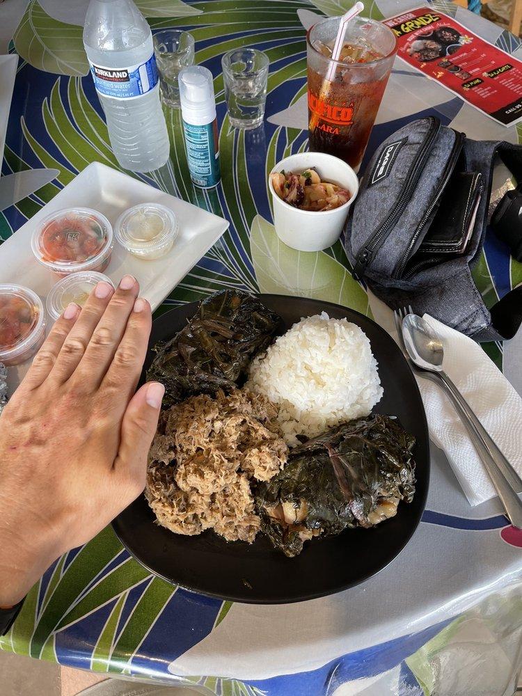 Kimo & Melia's Hawaiian Grindz: 15-2929 Pahoa Village Rd, Pāhoa, HI