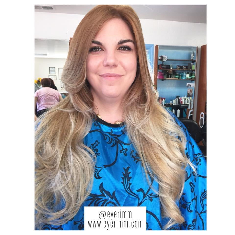 Balayage Color Placement Micro Bead Hair Extensions By Stylist