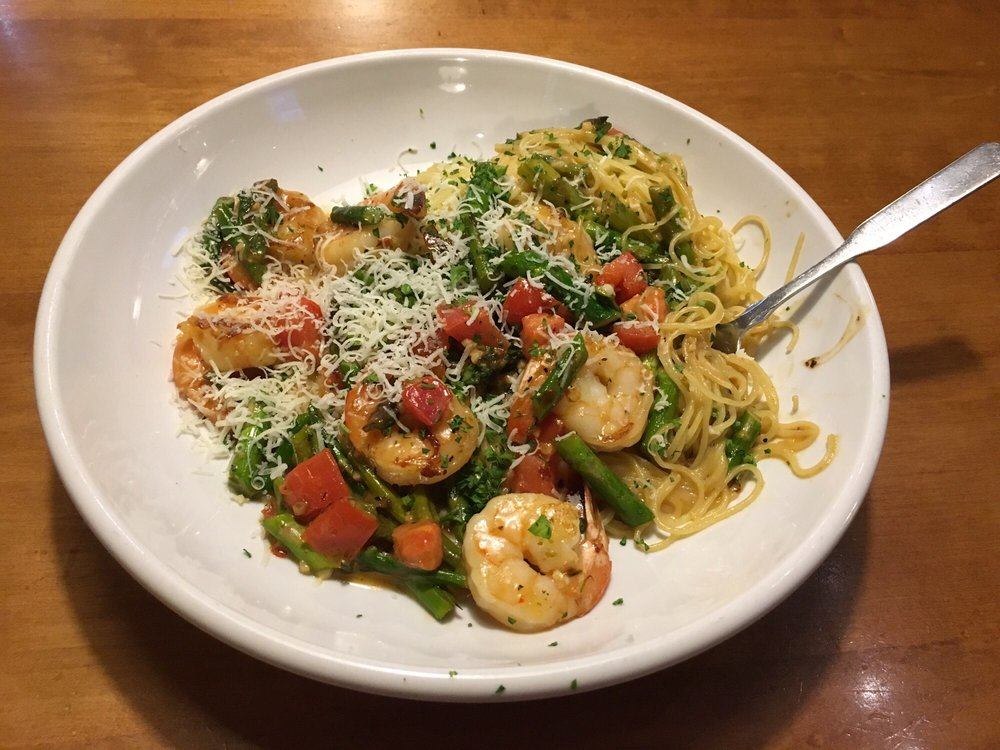 Shrimp Scampi With Asparagus Very Good Choice Yelp