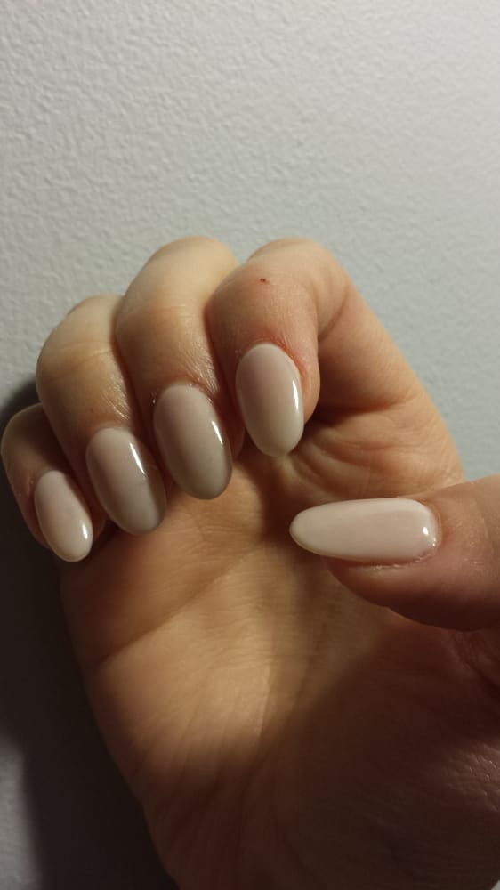 I got the nail extension, gel polish and powder with almond tips and ...
