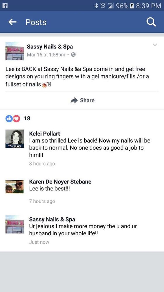 Sassy Nails And Spa Manitowoc