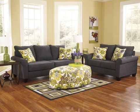 Benchcraft Charcoal Grey Sofa Loveseat Yelp