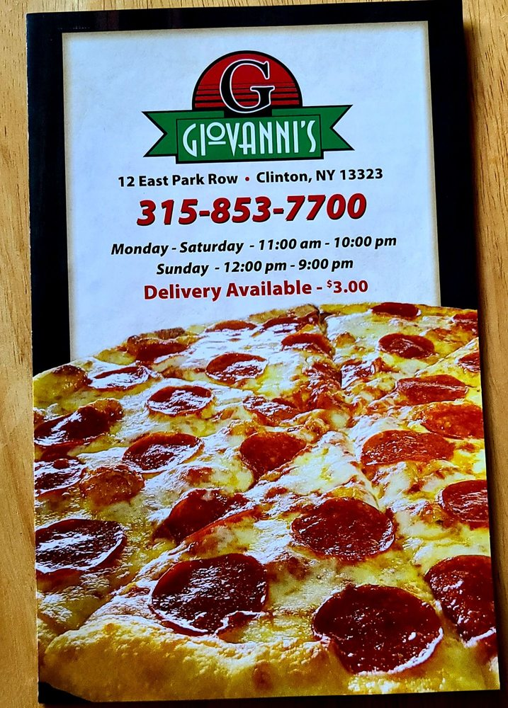 Food from Giovanni's Pizzeria