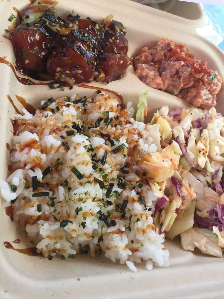 Poke bowl 16 fresh n good yelp for Fish bowl maui