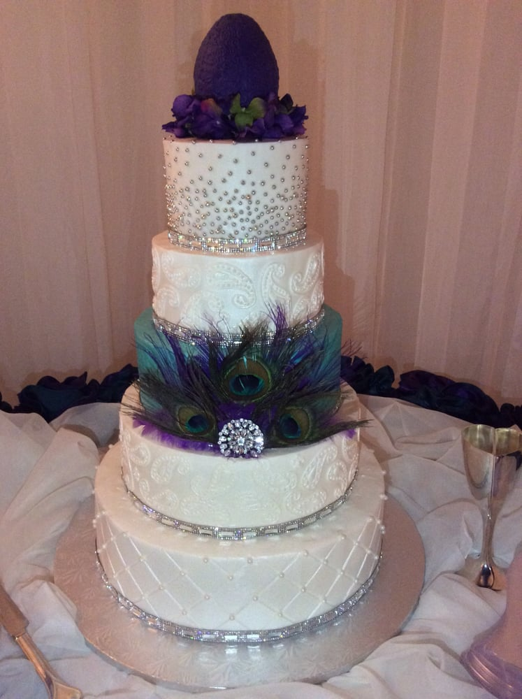 wedding cake in houston texas peacock feather cake the gardens venue yelp 22975