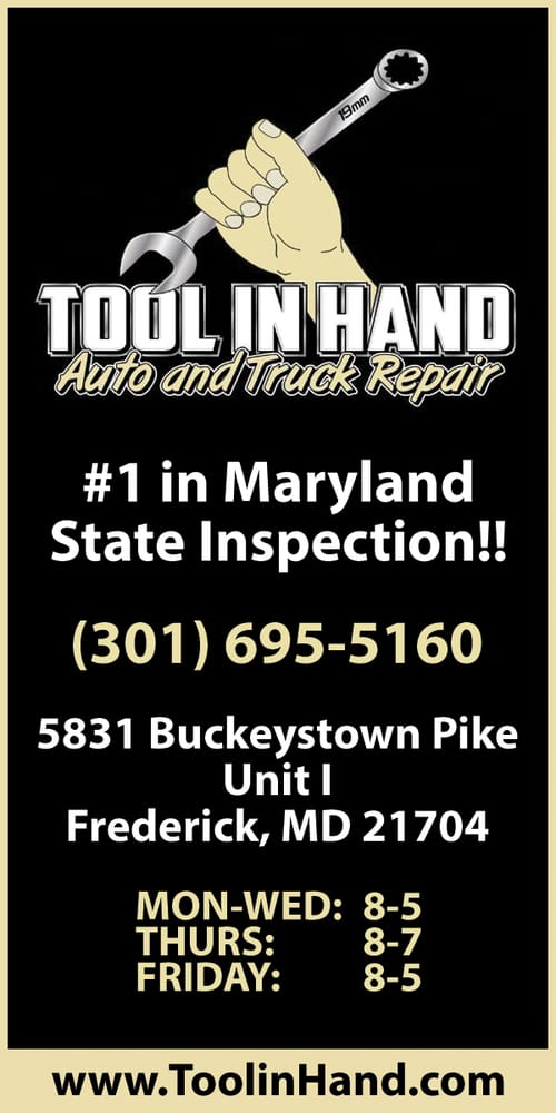 Tool In Hand: 5831 Buckeystown Pike, Frederick, MD