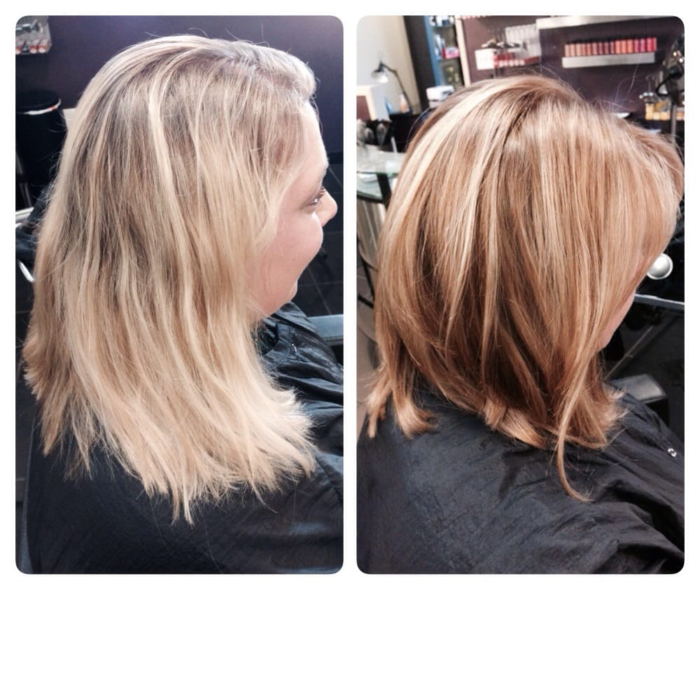 lob haircut before and after before and after lob haircut and bronde color hair by