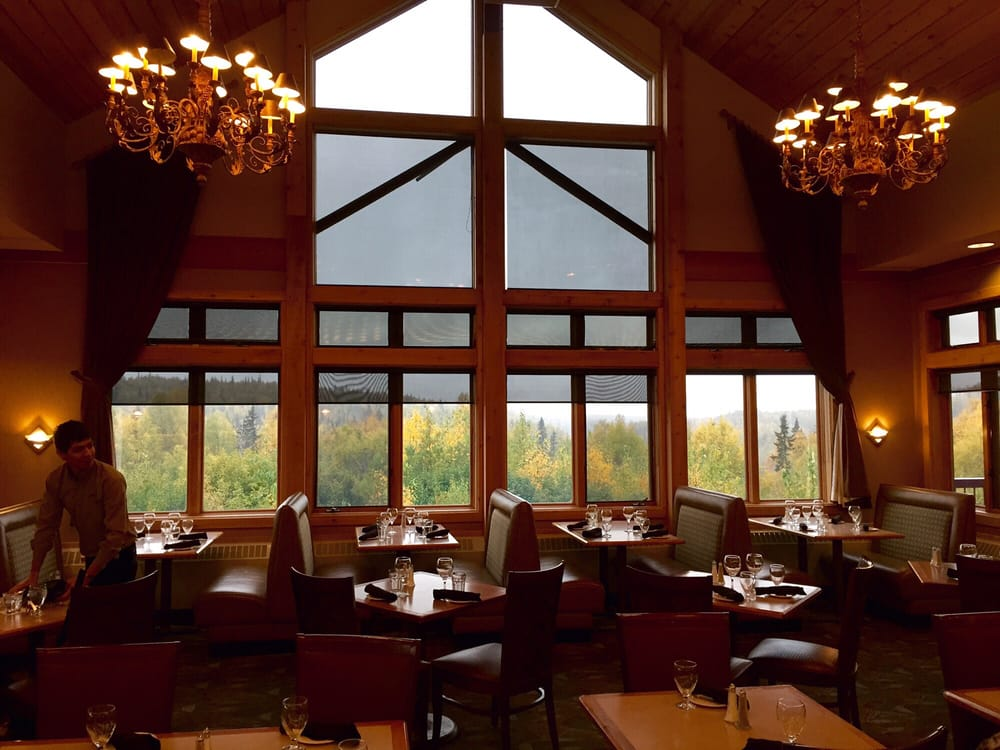 Mountain View Dining Room: Mt McKinley Princess Wilderness Lodge, Trapper Creek, AK