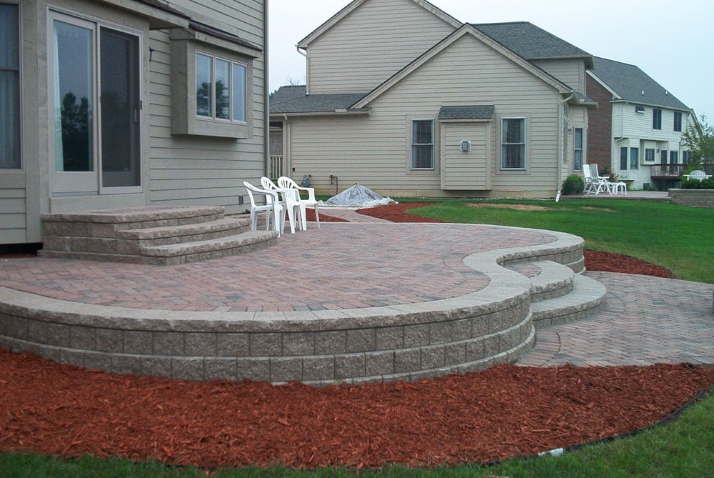 Photo Of Atkins Concrete Volo Il United States Raised Brick Paver Patio