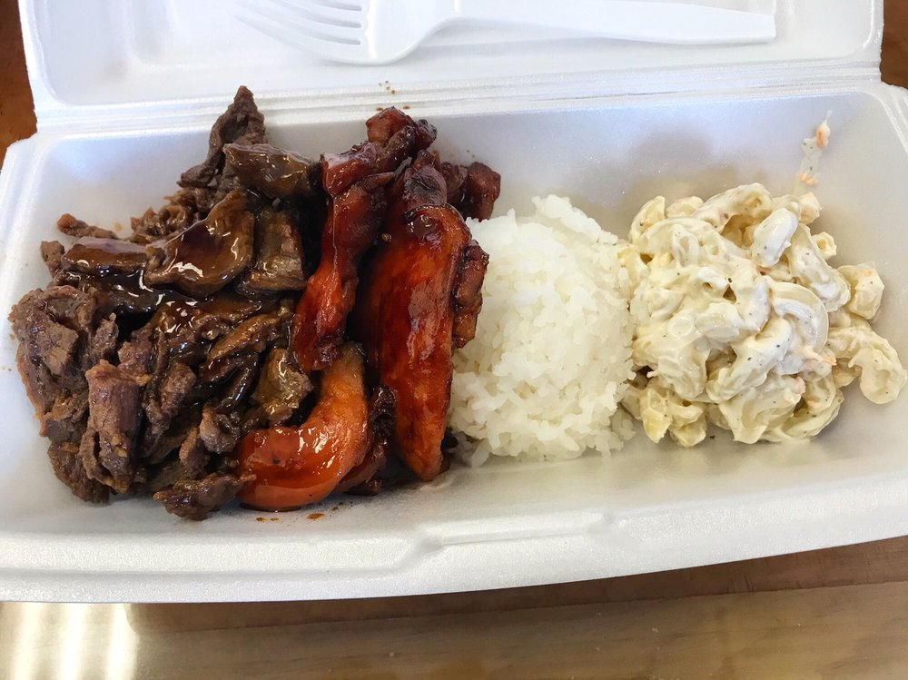 Food from Big Sai's Hawaiian BBQ