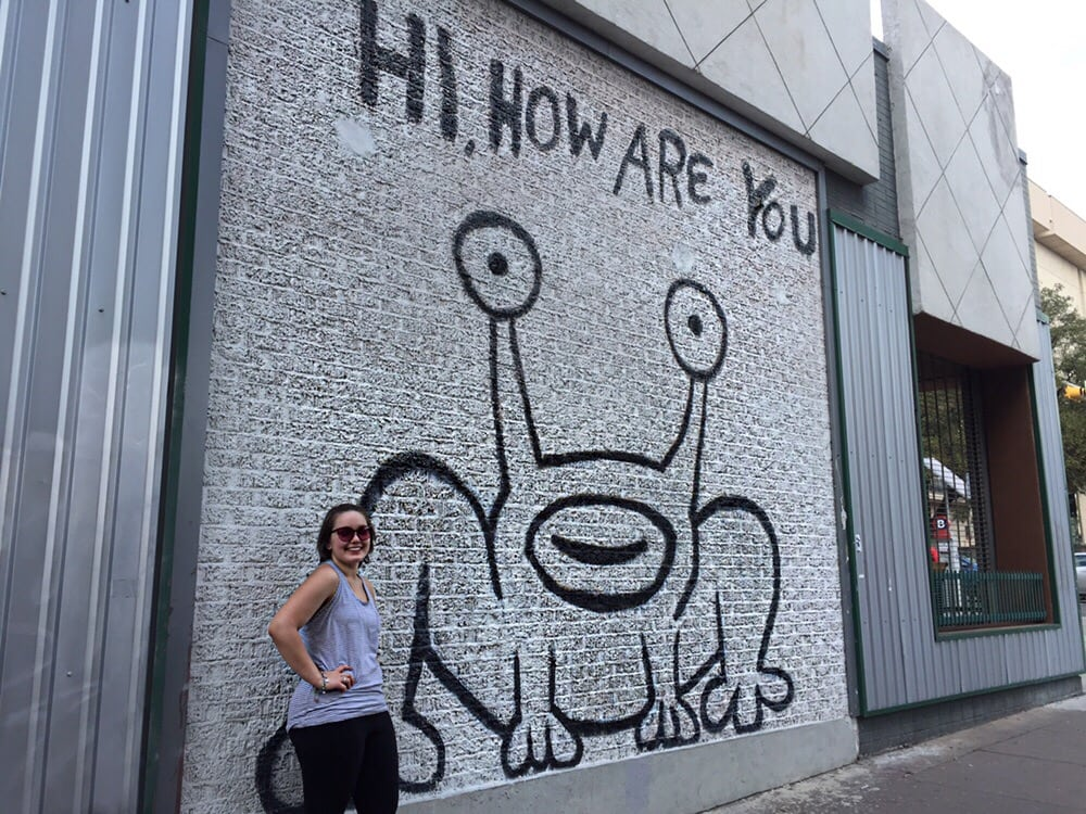 Jeremiah the innocent hi how are you frog 19 reviews for Daniel johnston mural