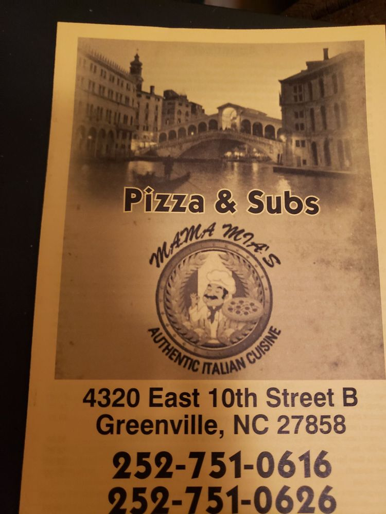 Mama Mia's: 4320 E 10th St, Greenville, NC