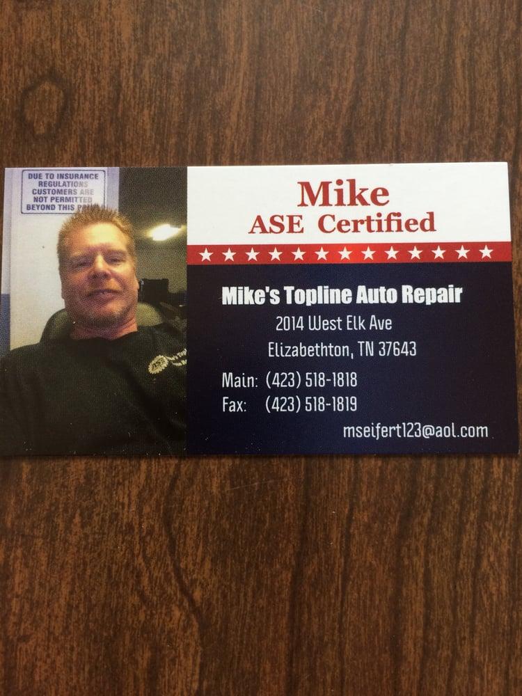 Mike's Topline Auto Repair: 1970 W Elk Ave, Elizabethton, TN