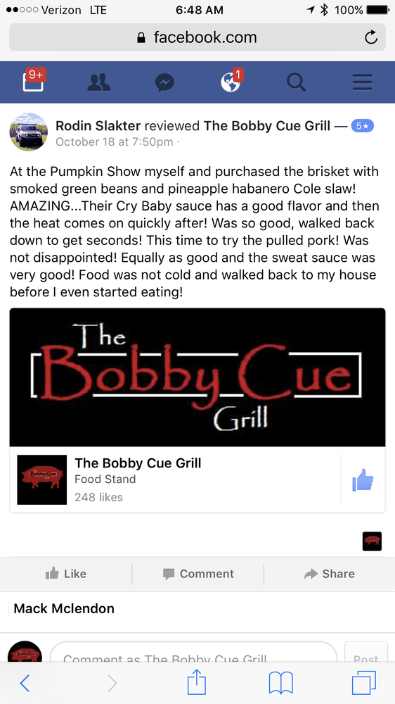The Bobby Cue Grill: Lima, OH