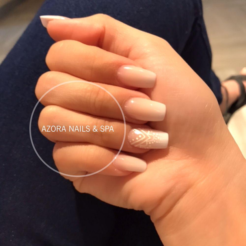 Nail Salon Katy: Ombre Nails #azoranailspa #firethornetexas #katytexas