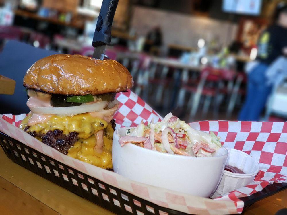 Food from Hot Chip Burger Bar