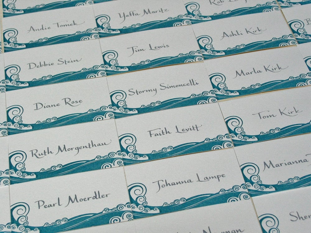 Calligraphy For Wedding Placecards Tiva Style