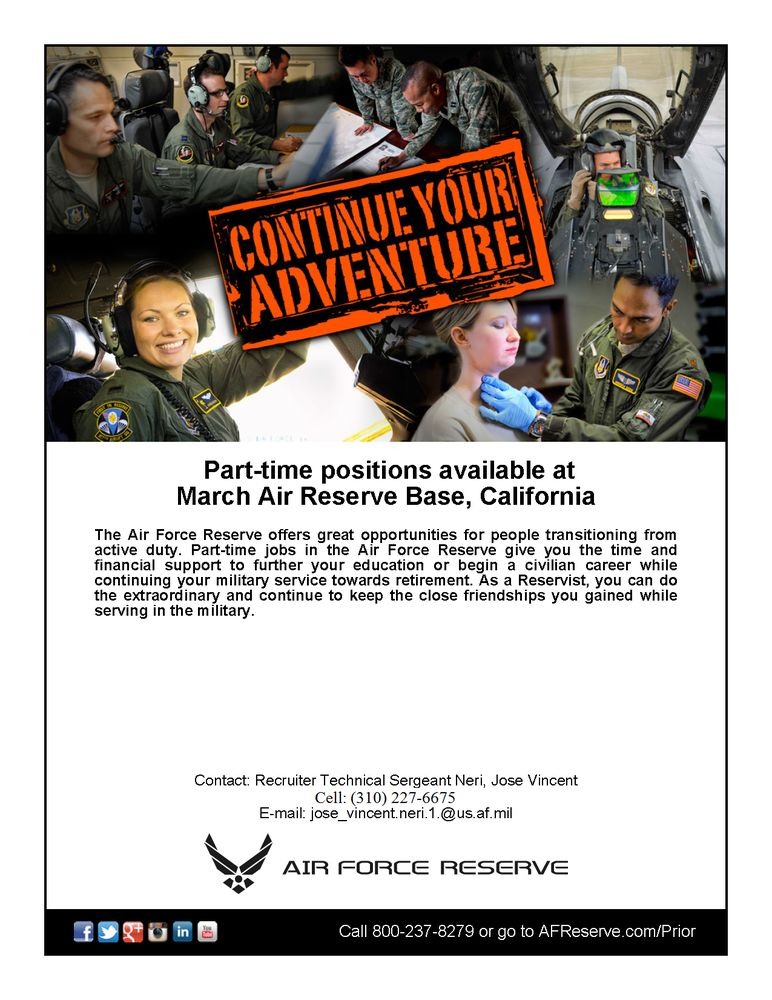 Air Force Reserve Recruiting Office: 5 N Seller Ave, Edwards Air Force Base, CA