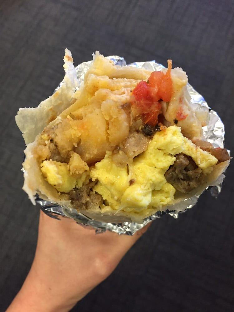 ultimate breakfast burrito photo taken at work yelp