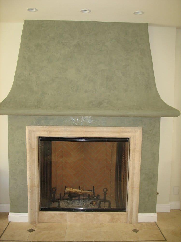 Venetian Plaster finish on fireplace mantle Yelp