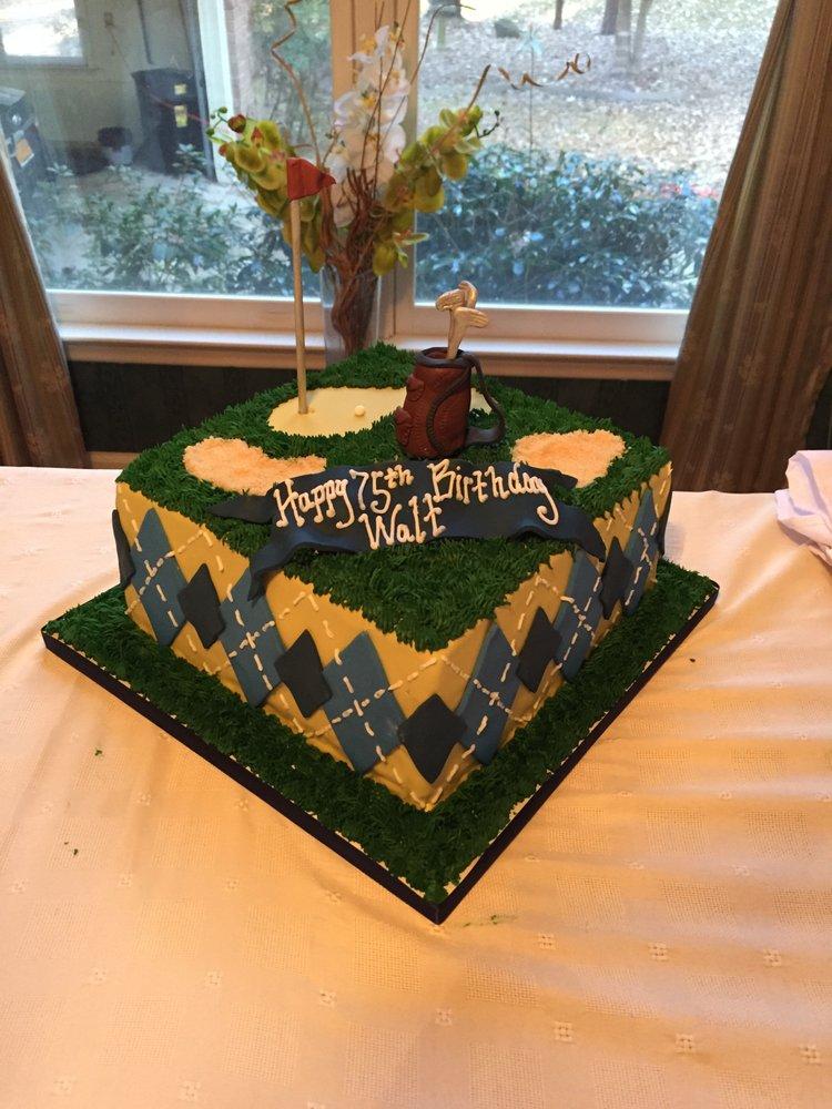 Grandpas 75th Birthday Cake Gold Themed Yelp