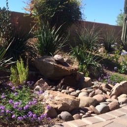 Arizona landshapes 29 photos landscaping 1500 e via for Recirculating water feature