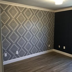 Photo of Wallpaper Company - Scottsdale, AZ, United States. Bedroom accent wall with ...