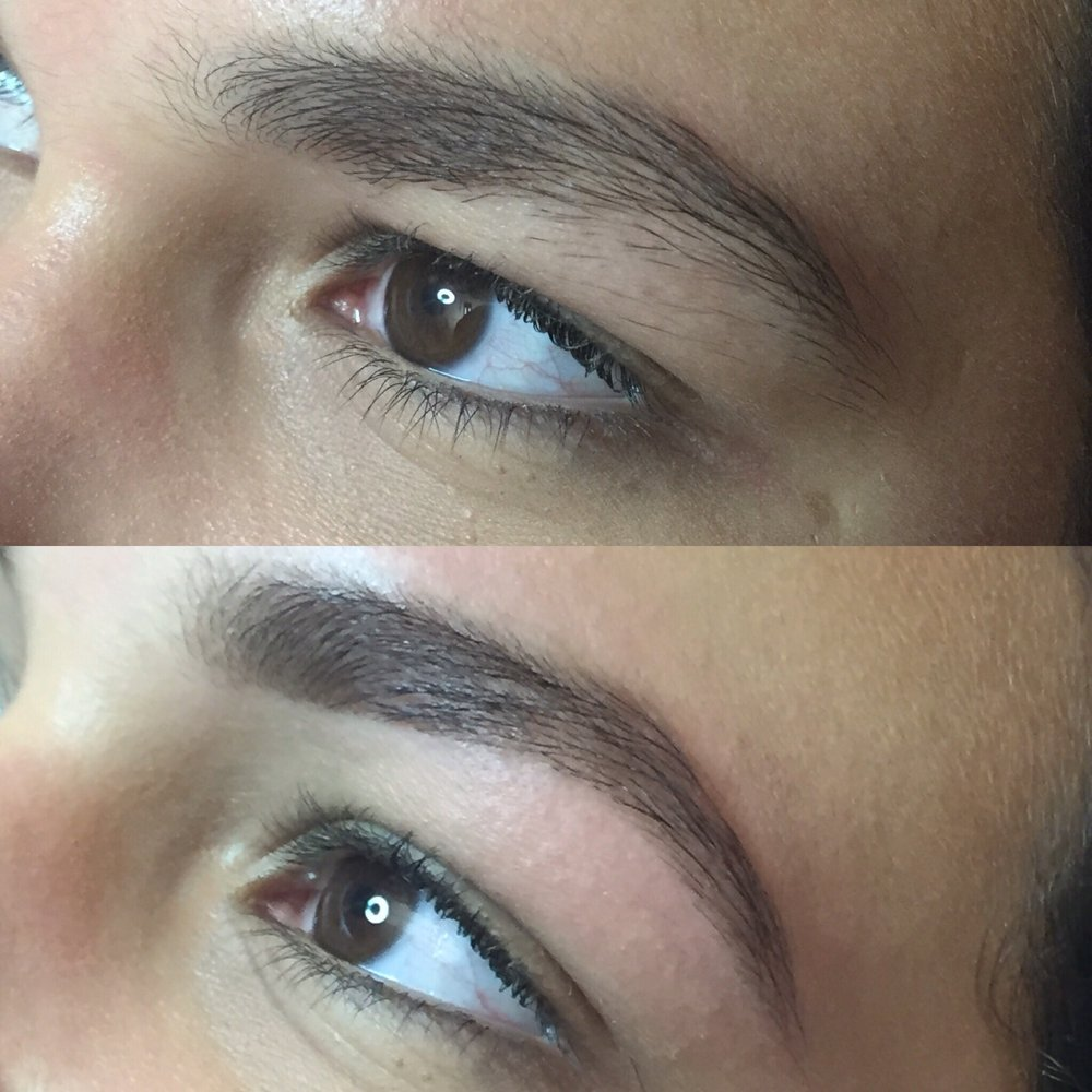 Before And After My Eyebrow Shaping With Rebekah Fabulous Brows Yelp