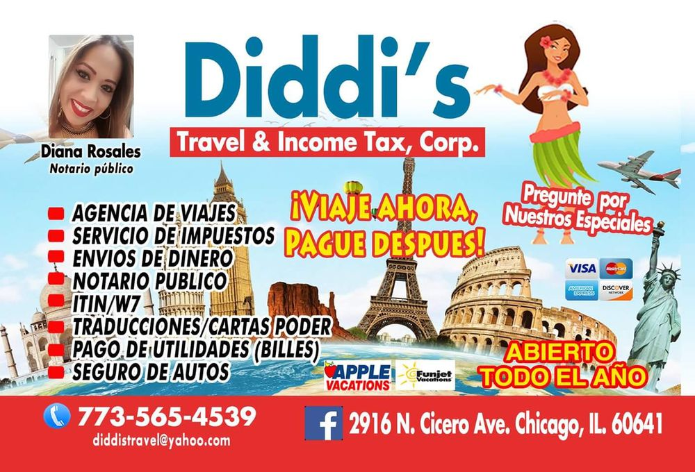 Diddis Travel and Income Tax: 2916 N Cicero Ave, Chicago, IL