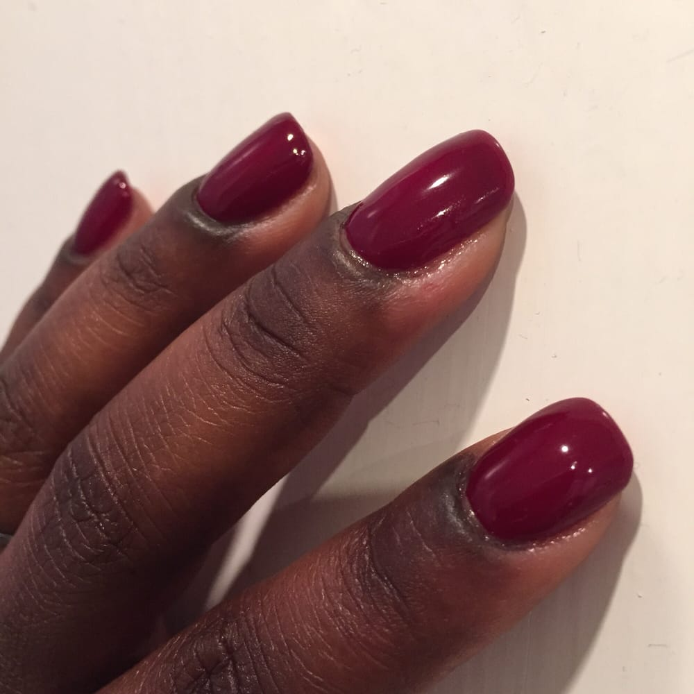 Acrylic Overlay on Natural Nail (no tip), with OPI Shellac Polish. 2 ...