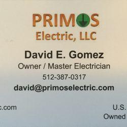 Primos Electric Electricians Cedar Park Tx Phone